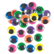 Jumbo Coloured Wiggle-Eyes in 6 Assorted Colours for Children to Decorate Cards Crafts and Models