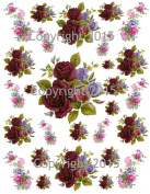 Victorian Purple and Blue Flowers Collage Sheet Printed Collage Sheet, Weddings, Decoupage, Scrapbook, Altered Art, Victorian Scrap