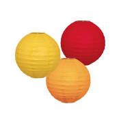 AllHeartDesires Set of 6 Mixed Orange Yellow Red Decorative Paper Lantern Lamp Shade Wedding Centrepieces Hanging Party Decoration