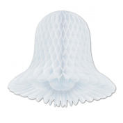 Club Pack of 24 White Honeycomb Hanging Westminster Tissue Bells Party Decoration 38cm