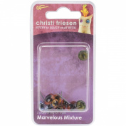 Great Create Christi Friesen Glass Eyes (10 Pack), 4mm, Marvellous Mixture