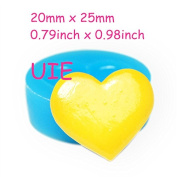 304LBQ Heart Cookie Biscuit Silicone Mould - Cake Decorating Craft Gum Paste Tallow Plaster Fimo Clay Candles