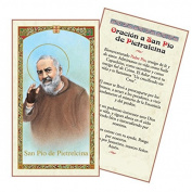 Oracion a San PIO De Pietrelcina Tarjeta Plastificada Y Bendecida Por Su Santidad