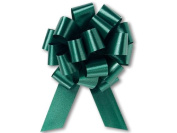 Hunter Green Flora Satin 14cm Pull Bows - 20 loops - 10 Pack