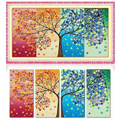 Cross Stitch Kit, Scenery, Four Seasons Rich Tree DIY Needlework Handmade Embroidery Home Room Décor