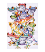 Frog Pile Counted Cross Stitch Kit-28cm x 41cm 14 Count