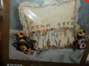 Something Special Candlewicking Embroidery Kit Pansies Pillow