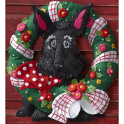 Scottie Bucilla Felt Applique Wreath Kit