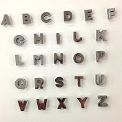52 Pc Silver Metal Plain Letters A-z Alphabet English Letters or Pick Your Own Letter Charms Fits 8mm Wristbands