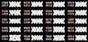Reuseable Airbrush Nail Stencil 240 DESIGNS - 20 Template Sheets Kit Set 3