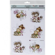 Hobby House Wee Stamps Topper Sheet, 21cm x 31cm , Beau and Bashful