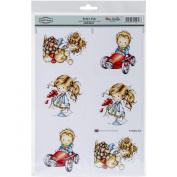 Hobby House Wee Stamps Topper Sheet, 21cm x 31cm , Polly's Pals
