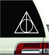 Harry Potter Vinyl Car Window Decal Deathly Hallows Symbol Sticker Magic Colour