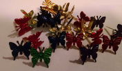 Metallic Coloured Butterfly Brads Assortment