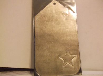 Star Pewter Gift Tag Sticker