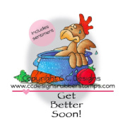 C.C. Designs Doodle Dragon Cling Stamp 7.6cm x 6.4cm Got Soup.