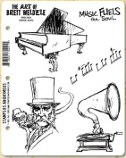 Stampers Anonymous Music Man Cling Set Designed by Tim Holtz, Black