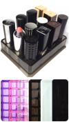 Acrylic Oversized Lipstick Organiser & Beauty Care Holder Provides 12 Space Storage   byAlegory