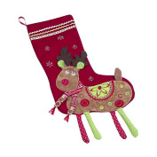 Maison Chic Reindeer with 3-D Legs Stocking