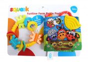 Playgro Baby Squeek Fun Time Farm Rattle Pack