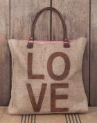 Love Burlap Weekender Bag