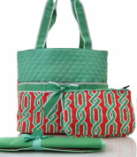 Vine Print Quilted Nappy Bag