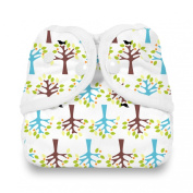Thirsties Snap Nappy Cover, Blackbird, Small