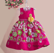 NEW Girls Baby Toddler Kid's Clothes Floral Jumper Skirt One Piece Dress
