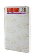 Dream On Me 7.6cm Spring Coil Portable Crib Mattress, White/Brown