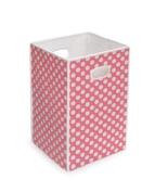 Badger Basket Folding Hamper/Storage Bin, Pink