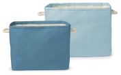 Delta Children Set of Two Large Rectangle Totes, Blue