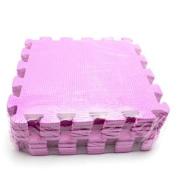10pcs Floor Foam Mat Interlock Child Kids Baby Crawling Floor Playing Secure Kit peach