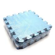 10pcs Floor Foam Mat Interlock Child Kids Baby Crawling Floor Playing Secure Kit blue