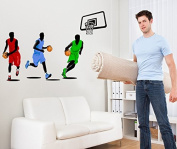Playing Basketball Wall Decal Home Sticker House Decoration WallPaper Removable Living Dinning Room Bedroom Kitchen Art Picture Murals DIY Stick Girls Boys kids Nursery Baby Playroom Decoration PP-JM7263