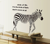 Sketch Style Zebra Wall Decal Home Sticker House Decoration WallPaper Removable Living Dinning Room Bedroom Kitchen Art Picture Murals DIY Stick Girls Boys kids Nursery Baby Playroom Decoration PP-AY9057