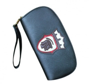 Easting Women's Candy Colour The Queen Head Badge Vintage Leather Wallet