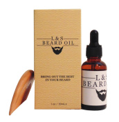 Beard Oil Softener & Conditioner Fragrance Free Complete Bundle with Wooden Comb, All Natural Vitamin E & Jojoba Blend, Mens Facial Hair Care, Removes Itching, Gives Your Beard the Right It Deserves!