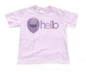 "Girls Soft Pink ""Hello"" Toddler T-Shirt"