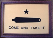 Large Come And Take It Framed Flag Aged USA Real Rustic Western Framed Wall Art