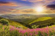 Daydream Sun, Rainbow and Beautiful Nature Canvas Wall Art, 5 Stars Gift Startonight 80cm X 120cm