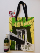 Trader Joe's Spa Lavender Hand & Body Lotion And NY Style Reusable Shopping Bag