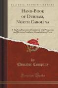 Hand-Book of Durham, North Carolina