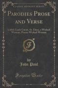 Parodies Prose and Verse