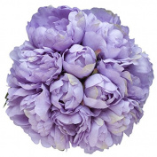 Silk Peonies Bouquet - Lavender