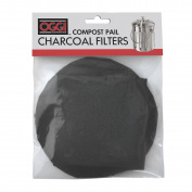 Oggi Replacement Charcoal Filters for Compost Pails # 7320, 5427, 5448 and 7700, Set of 2 Black