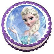 Frozen Elsa Edible Frosting Sheet Cake Topper - 19cm Round