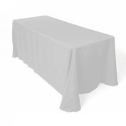 Tablecloth Restaurant Line Rectangular 230cm x 400cm Silver By Broward Linens