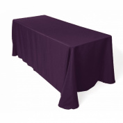 Tablecloth Restaurant Line Rectangular 230cm x 400cm Plum By Broward Linens