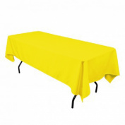 Tablecloth Restaurant Line Rectangular 180cm x 230cm Lemon By Broward Linens