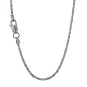 """14k Solid Gold Yellow Or White 1.1 mm Sparkle Chain Necklace 16"""" 18"""" 20"""" Lobster Claw Clasp"""